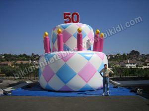 Cake Balloon with Candles, Birthday Balloon K2069 pictures & photos