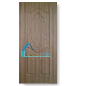 9 Panel Molded Plywood Door Skin with Real Sapelli Veneer pictures & photos