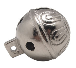 Sleigh Bell in Solid Brass or Silver Polish