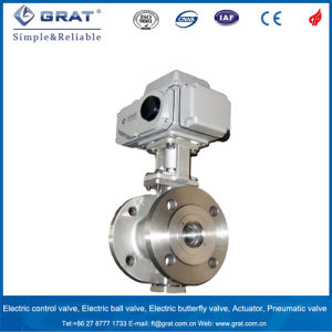 Electric Flange Connection Ball Valve pictures & photos