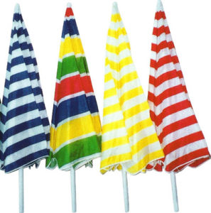 Stripe Cotton Beach Umbrella (BR-BU-31) pictures & photos
