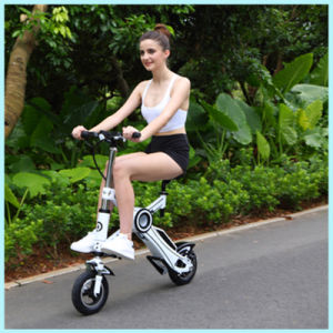 LCD Display Folding Scooter Mini Electric Folding Bicycle E-Bike pictures & photos