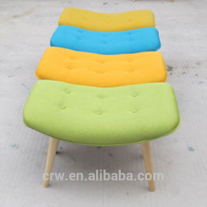 Fashion Colorful Ottoman with Wooden Legs pictures & photos