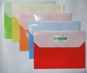 Bj-9009 Double Pockets Poly Envelopes, Button Snap Closure, Factory of Poly Envelopes in China,