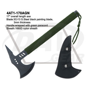 "17"" Overall 3Cr13 Black Painting Axe with Green Paracord: 4at1-170agn pictures & photos"