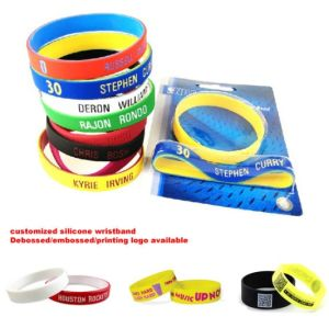 Personalized Silicone Bracelet with Customer Logo pictures & photos