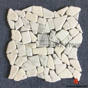 Oriental White Irregular Shape Marble Mosaics pictures & photos