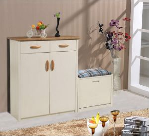 American Simple Solid Shoes Cabinet and Shoe-Changing Stool