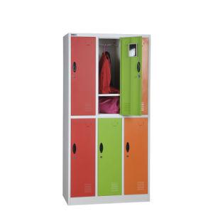 Yellow 6 Door Metal Storage Locker pictures & photos