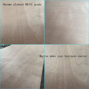 Okoume Face and Back WBP Glue BB/CC Grade Commercial Plywood pictures & photos
