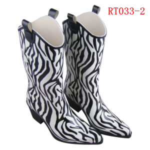 Women Fashion Rubber Rain Boot (RT033-2) pictures & photos