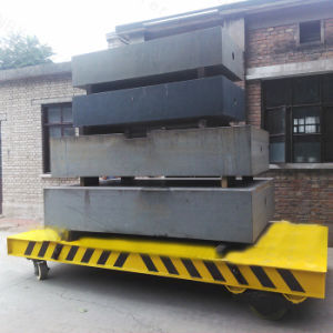 50t Capacity Low Voltage Rail Transfer Trolley for Steel Coil T in Steel Plant (KPD-50T) pictures & photos