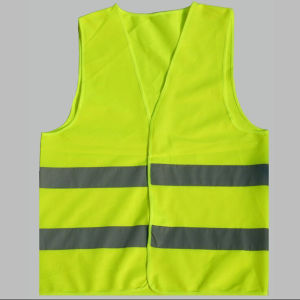 Wholesale Traffic Reflective Vest with Magic Tape High Visibility Safety Vest Road Safety Vest/Europe Popular Style En471 High Visibility Warning Safety Vest