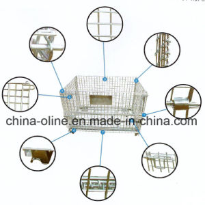 Euro Wire Mesh Storage Container pictures & photos