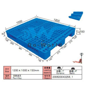 1200*1000 3 Runners Plastic (in steels) Racking/Storage/Transportation Pallet pictures & photos