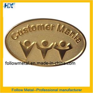Badge with Sandblast in The Recessed Area