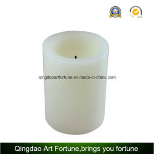 Yellow Light Flameless Wax LED Candle for Outdoor pictures & photos