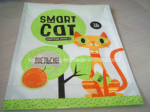 Printed Vivid Flat Bottom Stand up Pouch for Cat Smart Packing pictures & photos