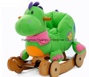 Washable Double Function Wooden Rocking Animal-Dinosaur Rocker with Safeguard pictures & photos