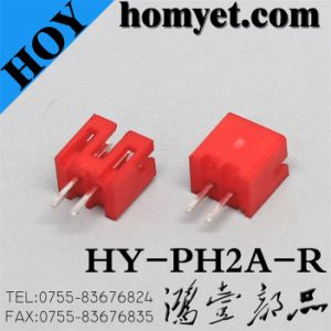 Manufacturer 2pin Socket Connector with Red Color for Digital Products (pH2A-R) pictures & photos
