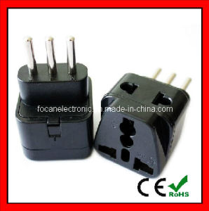 Universal Grounded 2 in 1 Italy Travel Adapter Plug pictures & photos