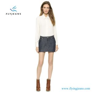 Hot Sale Raw Denim Women Miniskirt Ladies Jeans Skirts (E. P. 518) pictures & photos