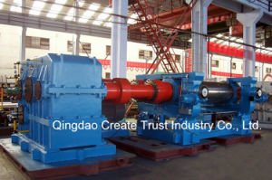 Top Quality Level Two Roll Open Rubber Mixing Mill with Double Coupling pictures & photos
