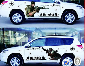 Custom Printed Car Sticker Design pictures & photos