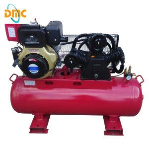 10HP 50cfm Diesel Engine Portable Air Compressor (EB-100160D) pictures & photos
