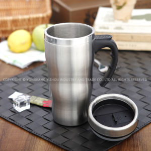 Stainless Steel Metal Travel Mug with Handle pictures & photos