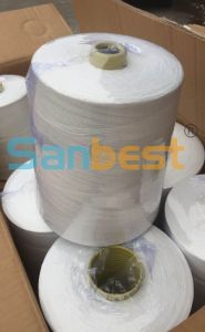 20s/6 100% Raw White Spun Polyester Bag Closing Thread pictures & photos