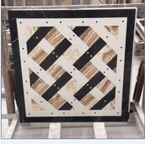 Hzx Marble Water Jet Medallion Natural Stone Mosaic Pattern pictures & photos