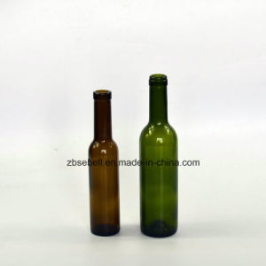 200ml, 375ml Cork Finish Top Bordeaux Glass Bottles for Wine pictures & photos