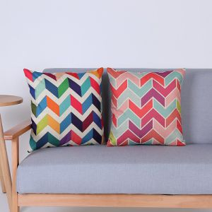 Digital Print Decorative Cushion/Pillow with Geometric Pattern (MX-73) pictures & photos