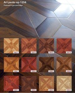 12mm Parquet Laminated Wood Flooring pictures & photos