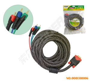 VGA to 3 RCA Male to Male Cable (VGA-03-5M) pictures & photos
