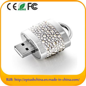 Characteristic Diamond Crystal Lock Shape USB Flash Drive (ES530) pictures & photos