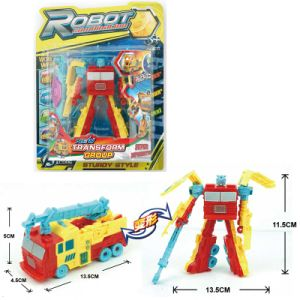 Gift Plastic Tank Deformation Fire Truck Robot Fighter Toy