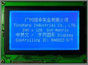 240X128 Blue Graphic LCD Module with RoHS Certificate (TG240128E-03)
