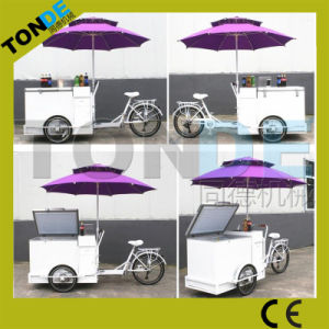 Serviceable Italian Ice Cream Cart Getalo Bike with Freezer pictures & photos