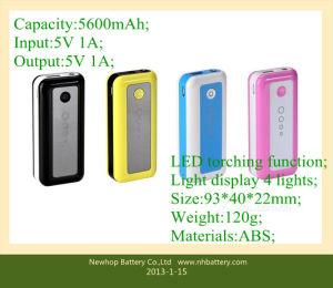 Power Banks 5600mAh for iPhone/iPad/HTC/Samsung