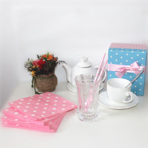 Party Supplies Star Pink Polka DOT Napkin pictures & photos