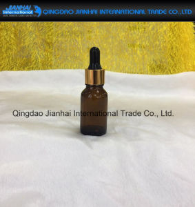 Amber Glass Empty Bottle for Essential Oils Liquid Drop Pipette pictures & photos