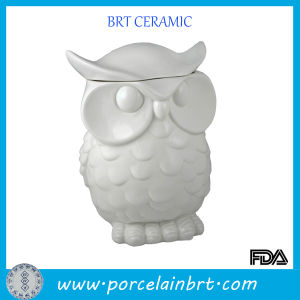 Biscuit Owl Design Ceramic Cookier Jar pictures & photos