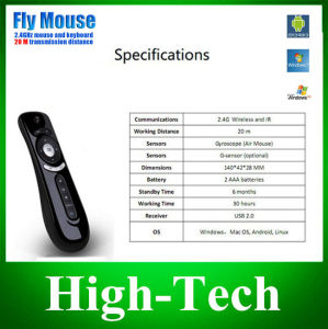 Gyroscope Mini Fly Air Mouse T2 2.4G Wireless Keyboard Mouse Android