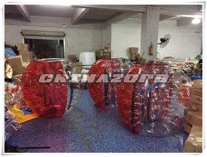 Red Color Inflatable Bubble Ball Printed with Customized Logo