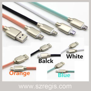 Four Colors Zinc Alloy Micro USB 2.0 Charger Data Cable pictures & photos