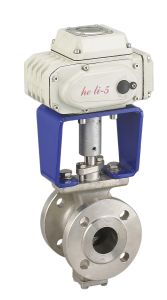 Electric V-Type Adjustable Ball Valve (HL) pictures & photos