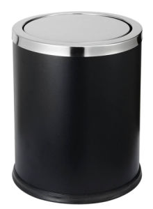 Smart Design Hotel Toilet Black Swing Lid Trash Can pictures & photos
