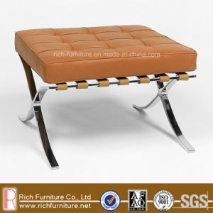 Modern Barcelona Stool with Stainless Steel Frame (Ottoman) pictures & photos